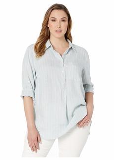 Ralph Lauren Plus Size Linen Long Sleeve Shirt