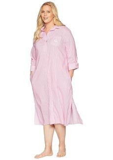 Ralph Lauren Plus Size Long Sleeve Roll Cuff Ballet Sleepshirt