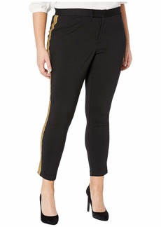 Ralph Lauren Plus Size Metallic-Trim Ponte Pants