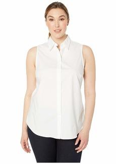 Ralph Lauren Plus Size No-Iron Sleeveless Shirt