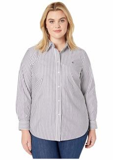 Ralph Lauren Plus Size Non-Iron Striped Shirt