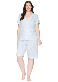 Ralph Lauren Plus Size Notch Collar Bermuda Set