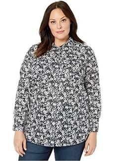 Ralph Lauren Plus Size Patch-Pocket Cotton Shirt