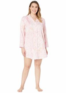 Ralph Lauren Plus Size Pointed Notch Collar Sleepshirt
