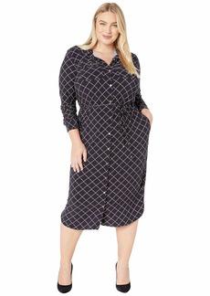 Ralph Lauren Plus Size Print Jersey Shirtdress
