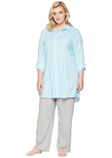 Ralph Lauren Plus Size Roll Tab His Shirt Sleepshirt