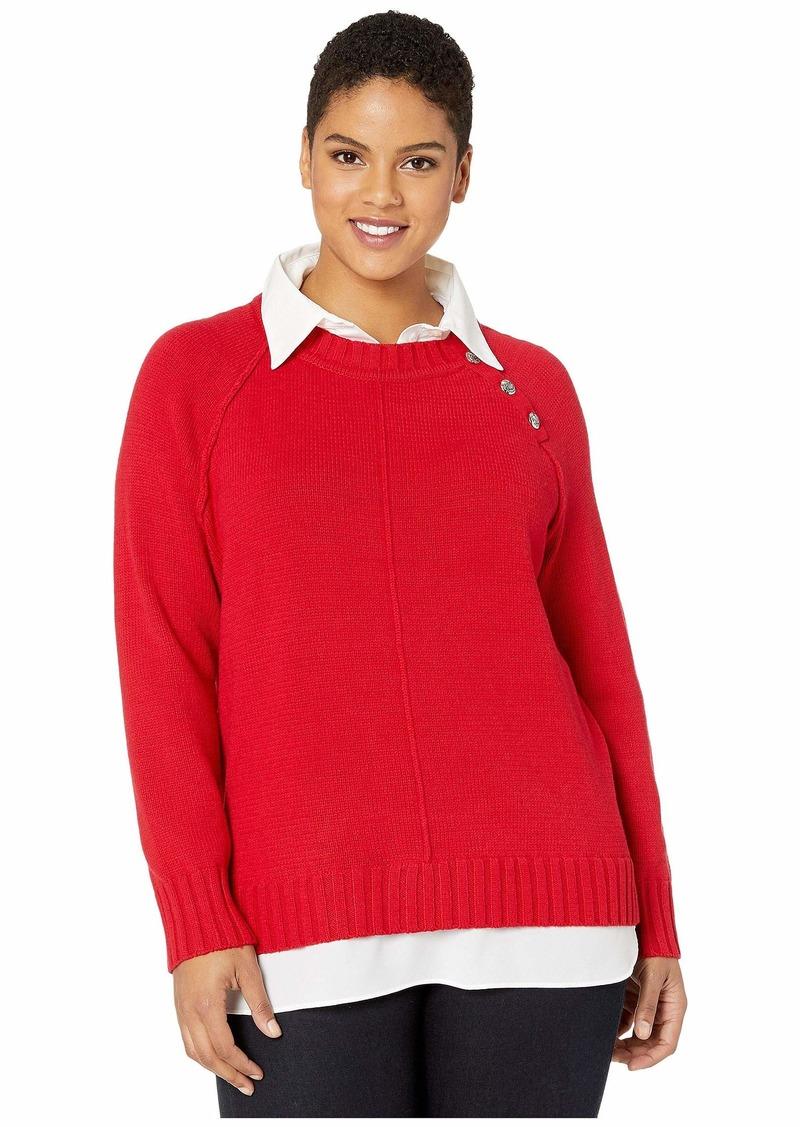 Ralph Lauren Plus Size Shirt-Underlayer Sweater