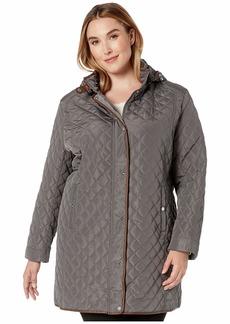 Ralph Lauren Plus Size Stand Collar Quilt Coat