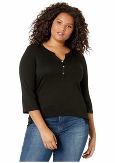 Ralph Lauren Plus Size Stretch Henley Tee