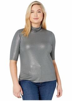 Ralph Lauren Plus Size Stretch Turtleneck Top