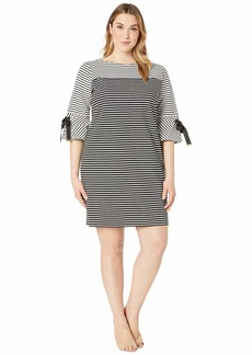 Ralph Lauren Plus Size Striped Cotton Dress