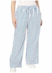 Ralph Lauren Plus Size Striped Drawcord Twill Pants