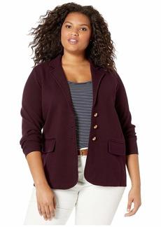 Ralph Lauren Plus Size Sweater Knit Blazer