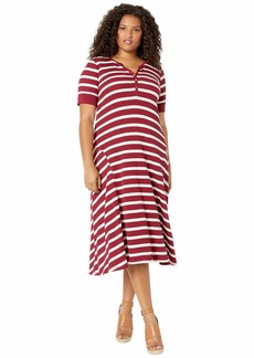 Ralph Lauren Plus Size Waffle Knit Fit-and-Flare Dress