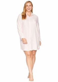Ralph Lauren Plus Size Woven His Shirt Sleepshirt