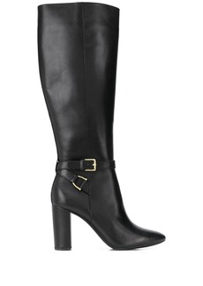 Ralph Lauren pointed toe knee length boots