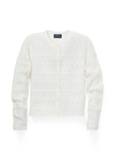 Ralph Lauren Pointelle Cotton Cardigan