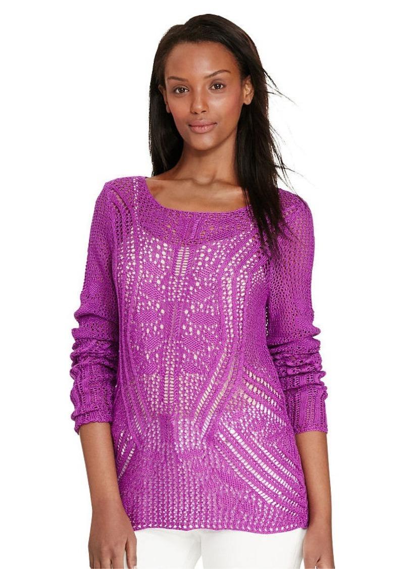 Ralph Lauren Pointelle-Knit Cotton Sweater