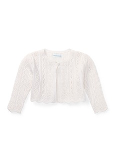 Ralph Lauren Pointelle Knit Half Cardigan
