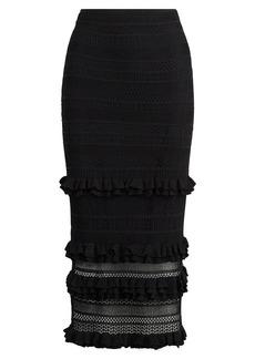 Pointelle-Knit Maxiskirt