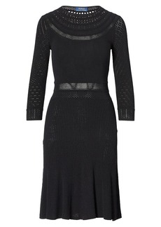 Ralph Lauren Pointelle-Knit Sweater Dress