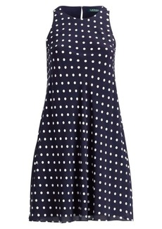 Ralph Lauren Polka-Dot Georgette Dress