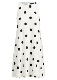 Ralph Lauren Polka-Dot Jersey A-Line Dress