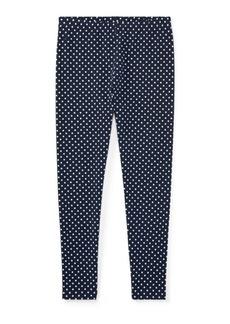 Ralph Lauren Polka-Dot Jersey Legging