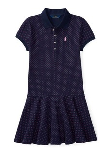 Ralph Lauren Polka-Dot Mesh Polo Dress