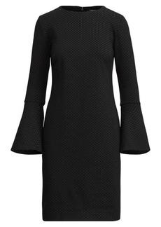 Ralph Lauren Polka-Dot Ponte Dress