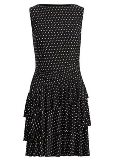 Ralph Lauren Polka-Dot Ruffled Jersey Dress