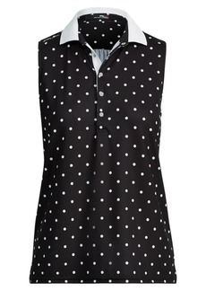 Ralph Lauren Polka-Dot Sleeveless Polo