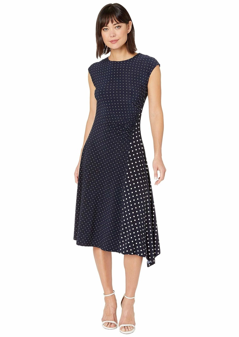 Ralph Lauren Polka Dot Stretch Jersey Dress