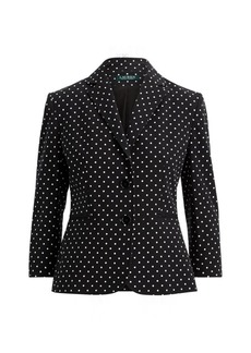 Ralph Lauren Polka-Dot Stretch Twill Jacket