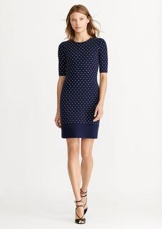 Ralph Lauren Polka-Dot Sweater Dress