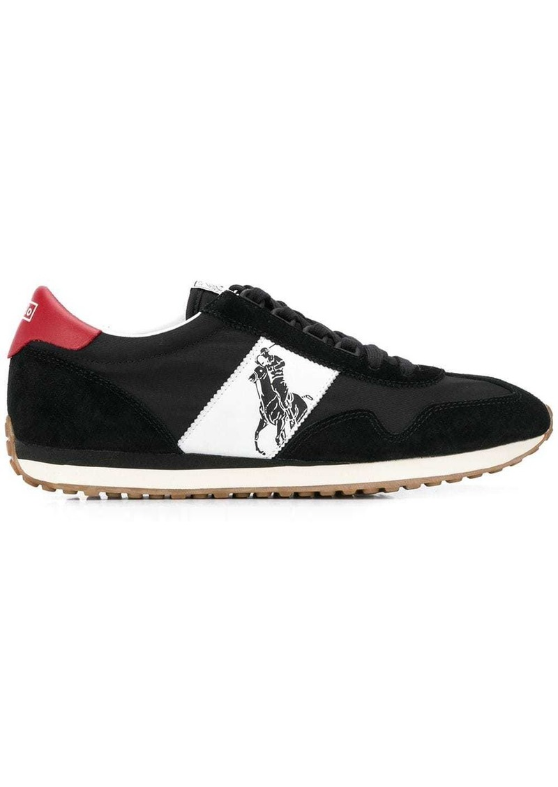 Ralph Lauren Polo logo panelled sneakers