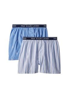 Ralph Lauren: Polo 2-Pack Woven Boxers (Little Kids/Big Kids)