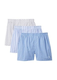 Ralph Lauren Polo 3-Pack Classic Fit Packaged Woven Boxers