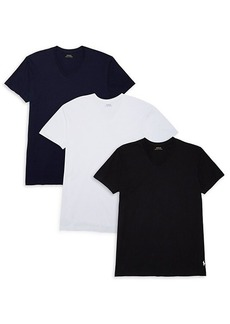 Ralph Lauren Polo 3-Pack V-Neck Cotton Classic-Fit Tees