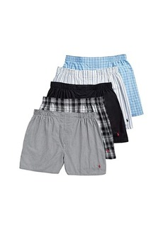 Ralph Lauren Polo 5-Pack Classic Fit Woven Boxers