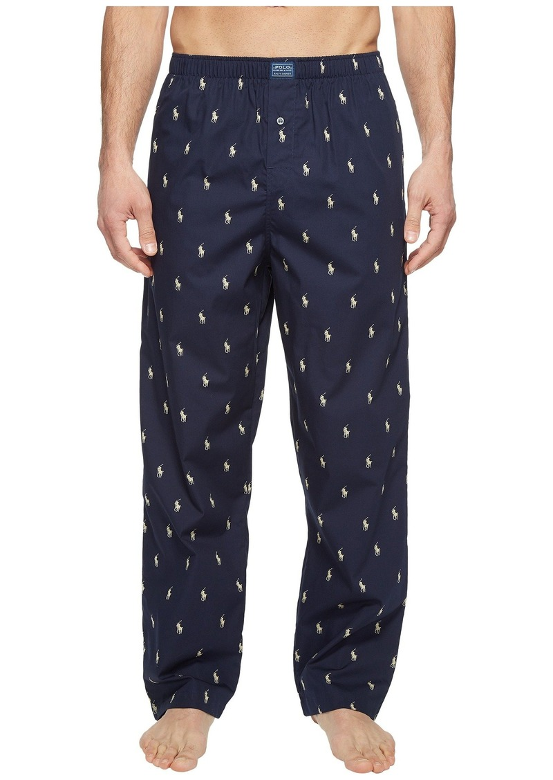 Ralph Lauren Polo All Over Pony Player Woven Pants