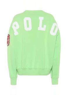 Ralph Lauren: Polo Appliquéd cotton-blend sweatshirt
