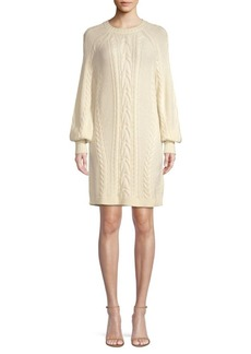 Ralph Lauren: Polo Aran Cable-Knit Wool Shift Sweater Dress
