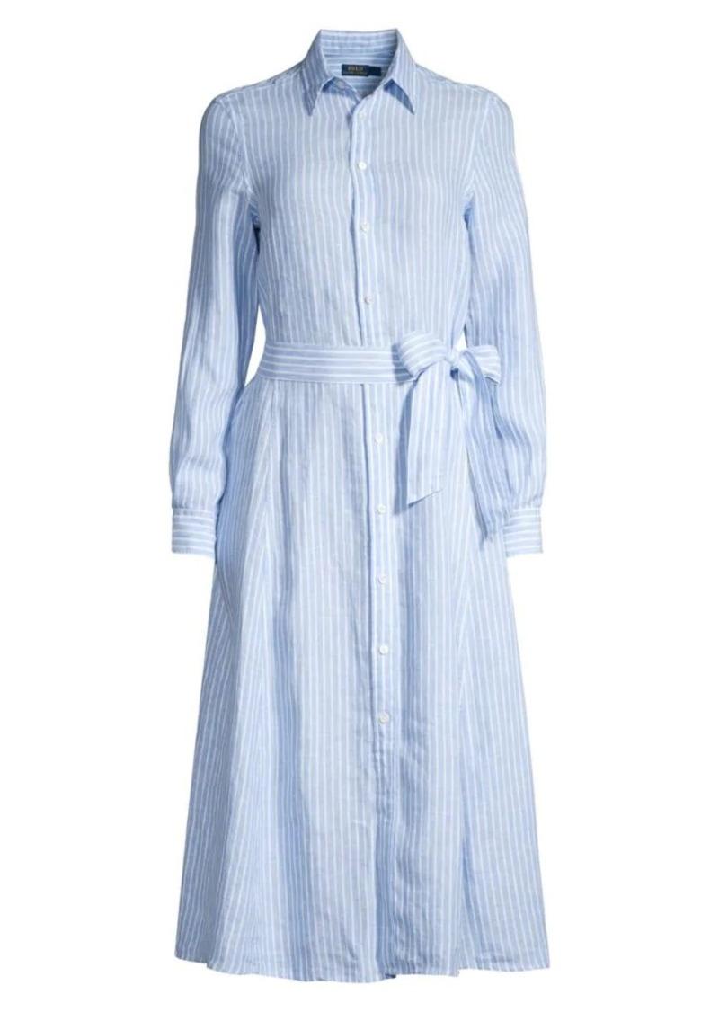 Ralph Lauren: Polo Ashton Striped Linen Shirt Dress