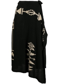 Ralph Lauren: Polo asymmetrical pattern skirt