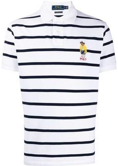 Ralph Lauren Polo bear-appliqué striped polo shirt