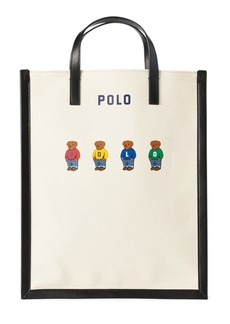 Ralph Lauren Polo Bear Canvas Large Tote