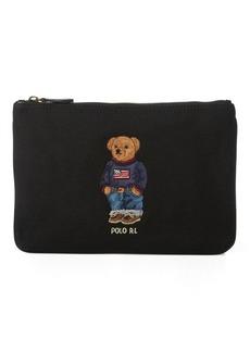 Ralph Lauren Polo Bear Canvas Zip Pouch