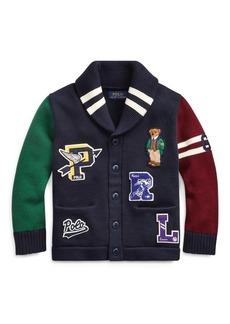 Ralph Lauren Polo Bear Cotton Cardigan