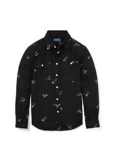 Ralph Lauren Polo Bear Cotton Flannel Shirt